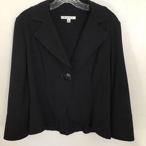 CAbi  Black Blazer Size Small Single Button Front